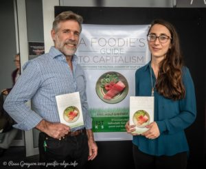 Eric Holt-Giminez and food systems researcher, Eva Perroni.