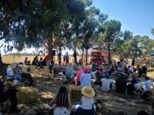 Talks on the hill at Farm Day Out!