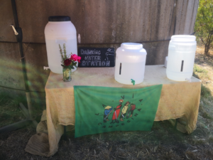 Lots of La Via Campesina flags could be seen at Farm Day Out!